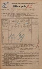 Popis prebivalstva 20. 12. 1921<br />Ljubljana<br />Cankarjeva ulica 6<br />Population census 20 December 1921