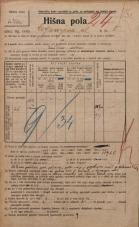 Popis prebivalstva 20. 12. 1921<br />Ljubljana<br />Cankarjeva ulica 8<br />Population census 20 December 1921