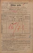 Popis prebivalstva 20. 12. 1921<br />Ljubljana<br />Cankarjevo nabrežje 1<br />Population census 20 December 1921