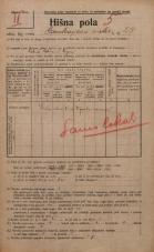 Popis prebivalstva 20. 12. 1921<br />Ljubljana<br />Cankarjevo nabrežje 27<br />Population census 20 December 1921