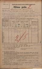 Popis prebivalstva 20. 12. 1921<br />Ljubljana<br />Cankarjevo nabrežje 5<br />Population census 20 December 1921