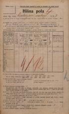 Popis prebivalstva 20. 12. 1921<br />Ljubljana<br />Cankarjevo nabrežje 9<br />Population census 20 December 1921