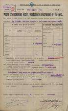 Popis prebivalstva 20. 12. 1921<br />Ljubljana<br />Cankarjevo nabrežje - Stritarjeva ulica 9<br />Population census 20 December 1921