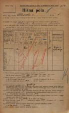 Popis prebivalstva 20. 12. 1921<br />Ljubljana<br />Celovška cesta 1<br />Population census 20 December 1921