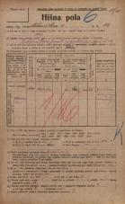 Popis prebivalstva 20. 12. 1921<br />Ljubljana<br />Celovška cesta 14<br />Population census 20 December 1921