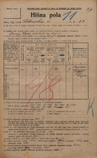 Popis prebivalstva 20. 12. 1921<br />Ljubljana<br />Celovška cesta 23<br />Population census 20 December 1921