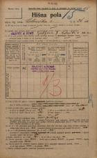Popis prebivalstva 20. 12. 1921<br />Ljubljana<br />Celovška cesta 26a<br />Population census 20 December 1921