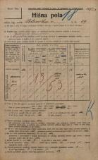 Popis prebivalstva 20. 12. 1921<br />Ljubljana<br />Celovška cesta 29<br />Population census 20 December 1921