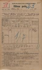 Popis prebivalstva 20. 12. 1921<br />Ljubljana<br />Celovška cesta 34<br />Population census 20 December 1921