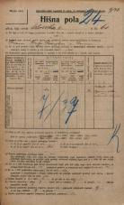Popis prebivalstva 20. 12. 1921<br />Ljubljana<br />Celovška cesta 61<br />Population census 20 December 1921