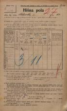 Popis prebivalstva 20. 12. 1921<br />Ljubljana<br />Celovška cesta 63<br />Population census 20 December 1921
