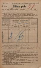 Popis prebivalstva 20. 12. 1921<br />Ljubljana<br />Celovška cesta 68<br />Population census 20 December 1921