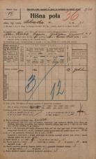 Popis prebivalstva 20. 12. 1921<br />Ljubljana<br />Celovška cesta 75<br />Population census 20 December 1921