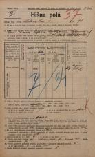 Popis prebivalstva 20. 12. 1921<br />Ljubljana<br />Celovška cesta 76<br />Population census 20 December 1921