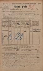 Popis prebivalstva 20. 12. 1921<br />Ljubljana<br />Celovška cesta 77<br />Population census 20 December 1921