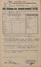 Popis prebivalstva 20. 12. 1921<br />Ljubljana<br />Celovška cesta 104<br />Population census 20 December 1921