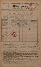 Popis prebivalstva 20. 12. 1921<br />Ljubljana<br />Celovška cesta 136<br />Population census 20 December 1921