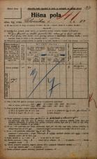 Popis prebivalstva 20. 12. 1921<br />Ljubljana<br />Celovška cesta 83<br />Population census 20 December 1921