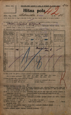 Popis prebivalstva 20. 12. 1921<br />Ljubljana<br />Celovška cesta 85<br />Population census 20 December 1921