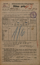 Popis prebivalstva 20. 12. 1921<br />Ljubljana<br />Celovška cesta 85a<br />Population census 20 December 1921