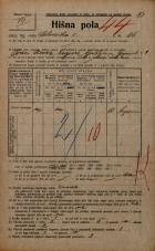 Popis prebivalstva 20. 12. 1921<br />Ljubljana<br />Celovška cesta 86<br />Population census 20 December 1921