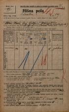 Popis prebivalstva 20. 12. 1921<br />Ljubljana<br />Celovška cesta 89<br />Population census 20 December 1921