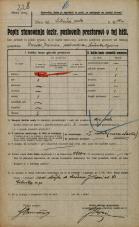 Popis prebivalstva 20. 12. 1921<br />Ljubljana<br />Celovška cesta 90a<br />Population census 20 December 1921