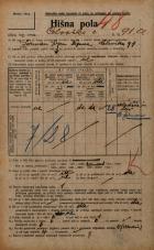 Popis prebivalstva 20. 12. 1921<br />Ljubljana<br />Celovška cesta 91a<br />Population census 20 December 1921