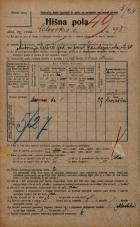 Popis prebivalstva 20. 12. 1921<br />Ljubljana<br />Celovška cesta 95<br />Population census 20 December 1921