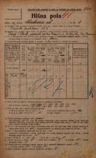 Popis prebivalstva 20. 12. 1921<br />Ljubljana<br />Cerkvena ulica 1<br />Population census 20 December 1921
