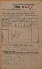 Popis prebivalstva 20. 12. 1921<br />Ljubljana<br />Cerkvena ulica 13<br />Population census 20 December 1921