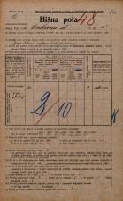 Popis prebivalstva 20. 12. 1921<br />Ljubljana<br />Cerkvena ulica 15<br />Population census 20 December 1921