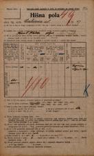 Popis prebivalstva 20. 12. 1921<br />Ljubljana<br />Cerkvena ulica 17<br />Population census 20 December 1921