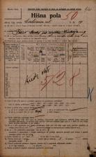 Popis prebivalstva 20. 12. 1921<br />Ljubljana<br />Cerkvena ulica 19<br />Population census 20 December 1921