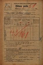 Popis prebivalstva 20. 12. 1921<br />Ljubljana<br />Cerkvena ulica 2<br />Population census 20 December 1921