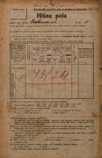 Popis prebivalstva 20. 12. 1921<br />Ljubljana<br />Cerkvena ulica 21<br />Population census 20 December 1921