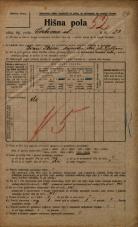 Popis prebivalstva 20. 12. 1921<br />Ljubljana<br />Cerkvena ulica 23<br />Population census 20 December 1921