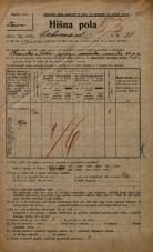 Popis prebivalstva 20. 12. 1921<br />Ljubljana<br />Cerkvena ulica 25<br />Population census 20 December 1921