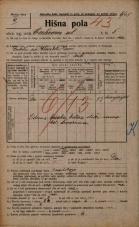 Popis prebivalstva 20. 12. 1921<br />Ljubljana<br />Cerkvena ulica 5<br />Population census 20 December 1921