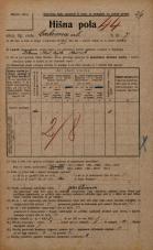 Popis prebivalstva 20. 12. 1921<br />Ljubljana<br />Cerkvena ulica 7<br />Population census 20 December 1921