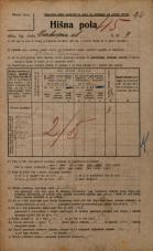 Popis prebivalstva 20. 12. 1921<br />Ljubljana<br />Cerkvena ulica 9<br />Population census 20 December 1921