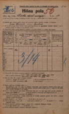 Popis prebivalstva 20. 12. 1921<br />Ljubljana<br />Cesta dveh cesarjev 14<br />Population census 20 December 1921