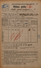 Popis prebivalstva 20. 12. 1921<br />Ljubljana<br />Cesta dveh cesarjev 6<br />Population census 20 December 1921