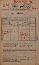 Popis prebivalstva 20. 12. 1921<br />Ljubljana<br />Cesta dveh cesarjev NN1<br />Population census 20 December 1921