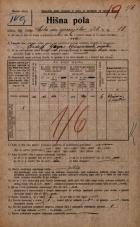 Popis prebivalstva 20. 12. 1921<br />Ljubljana<br />Cesta na gorenjsko železnico 10<br />Population census 20 December 1921