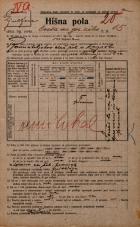 Popis prebivalstva 20. 12. 1921<br />Ljubljana<br />Cesta na gorenjsko železnico 15<br />Population census 20 December 1921