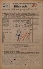 Popis prebivalstva 20. 12. 1921<br />Ljubljana<br />Cesta na gorenjsko železnico 16<br />Population census 20 December 1921