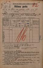 Popis prebivalstva 20. 12. 1921<br />Ljubljana<br />Cesta na gorenjsko železnico 17<br />Population census 20 December 1921
