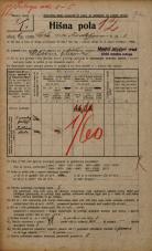 Popis prebivalstva 20. 12. 1921<br />Ljubljana<br />Cesta na Kodeljevo 8<br />Population census 20 December 1921