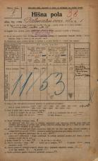 Popis prebivalstva 20. 12. 1921<br />Ljubljana<br />Dalmatinova ulica 1<br />Population census 20 December 1921